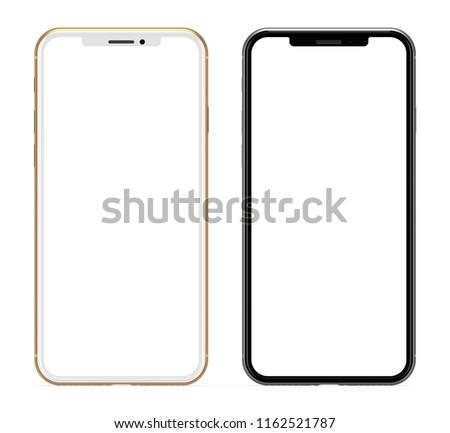 Smartphone isolated on white background.
