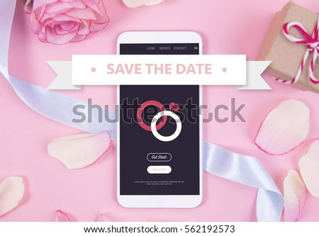 Smartphone on pastel background. #562192573