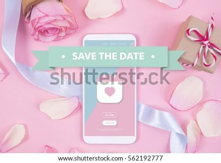 Smartphone on pastel background. #562192777