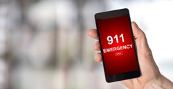 Smartphone screen displaying an emergency concept