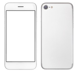 Smartphone with blank screen - front and back