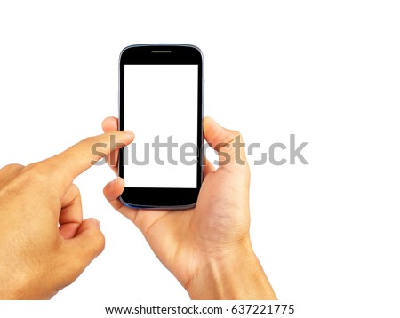 Smartphone with finger touch screen. #637221775