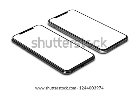 Smartphones isolated on white background. #1244003974
