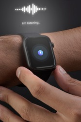 Smartwatch with hologram wearable technology