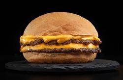 smash burger hamburger cheeseburger hamburgerin dark background