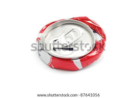 smashed soda can