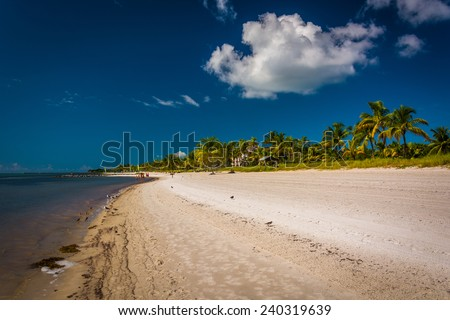 Smathers Beach, in Key West, Florida.