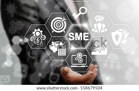 Shutterstock SME or Small and medium-sized enterprises smartphone web business KEY TO SUCCESS concept