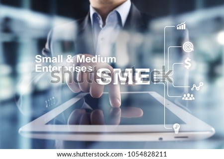Shutterstock SME, Small and medium-sized enterprises. Business model. KEY TO SUCCESS concept.