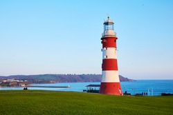 Smeaton's Tower Lighthouse built by John Smeaton overlooking Plymouth Hoe