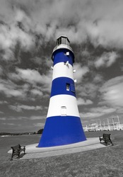 Smeaton's Tower on Plymouth Hoe is the third and most notable Eddystone Lighthouse. It marked a major step forward in the design of lighthouses.