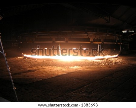 Smelting oven in heavy industry factory