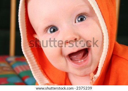 smile baby boy with tooth 2