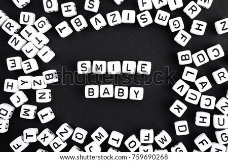 smile baby cheer up advice a series of minimalism phrases and