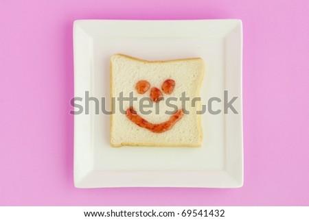smile bread - stock photo