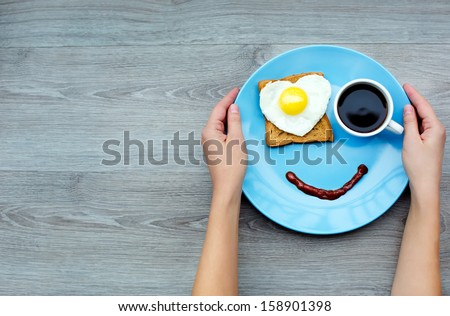 Smile for sweet breakfast with love