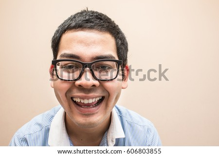 smile happy face of salary grasses man - Shutterstock ID 606803855