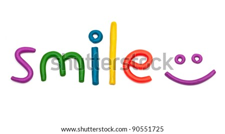 Smile plasticine figures