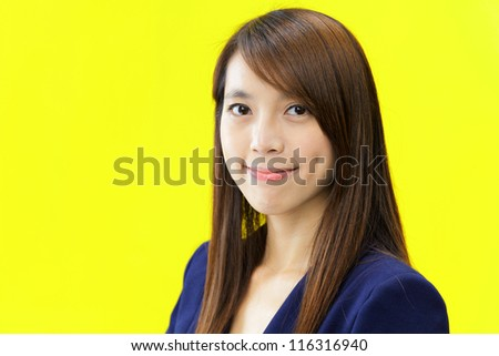 smile young asian woman