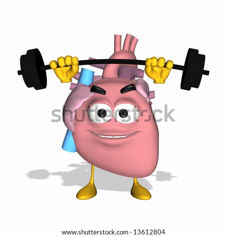 Smiley Aorta - Exercise Your Heart Smiley heart lifting weights