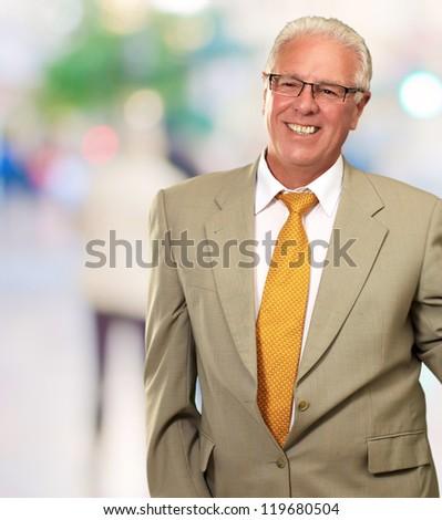 Smiley Businessman, Outdoor