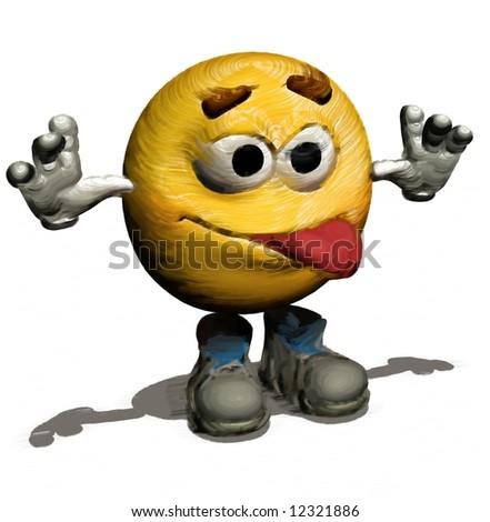 Smiley emotion yellow face illustration - stock photo