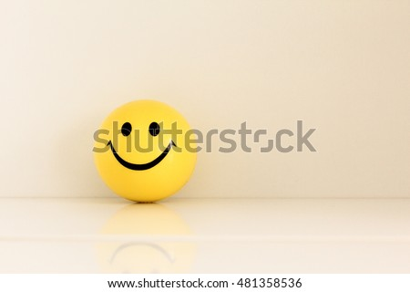 smiley face ball background - vintage soft light filter effect