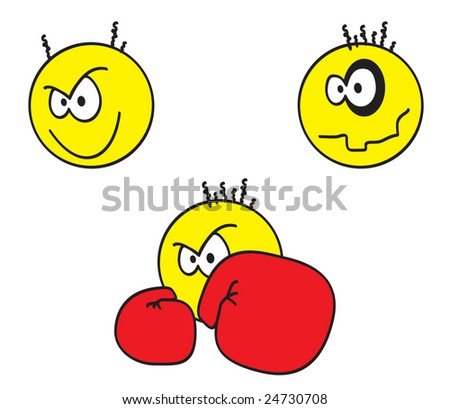 Punch Emoticons http://www.shutterstock.com/pic-24730708/stock-photo-smiley-faces-emoticons.html