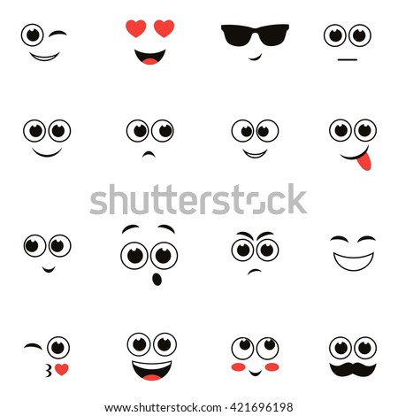 smiley faces isolated on white. Raster version #421696198