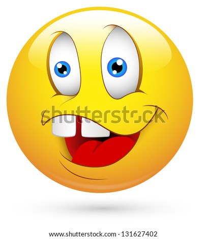 Smiley Illustration - Dumb Face - 131627402 : Shutterstock Funny Faces Cartoon For Facebook