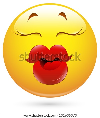 Lips Emoticon Smiley illustration - thick