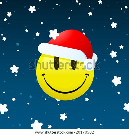 smiley background. stock photo : Smiley santa on