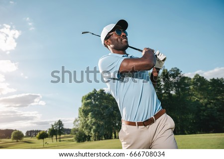 smiling african american man in ...