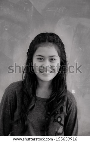 smiling Asian woman with braces #155659916