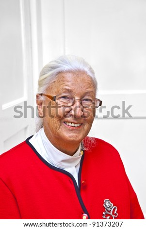 smiling attractive elderly woman