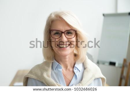 smiling attractive senior...