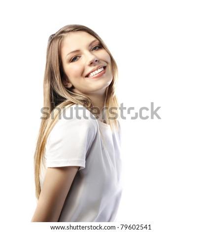 Smiling beautiful woman