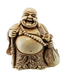 Smiling Buddha - Chinese God of Happiness, Wealth and Lucky Isolated on white
