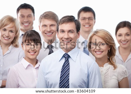 Smiling business people isolated
