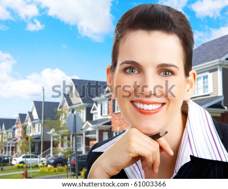 Smiling business woman. Real estate agent