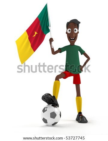soccer player cartoon. style soccer player with
