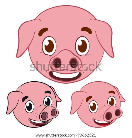 Pork Head Drawing Pig Cartoon Drawing Head