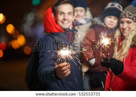 Smiling family in new year #532553731