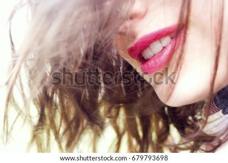 smiling girl #679793698