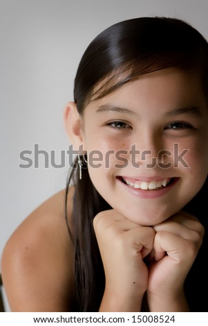 Smiling girl looking into camera