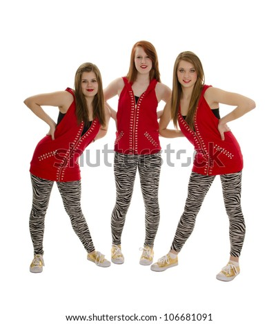 Hip Hop Dance Group Outfits a Red Hip Hop Dance Group
