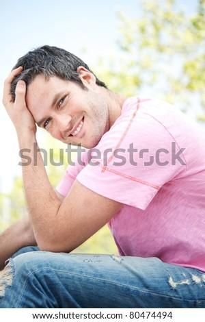 Smiling handsome man portrait