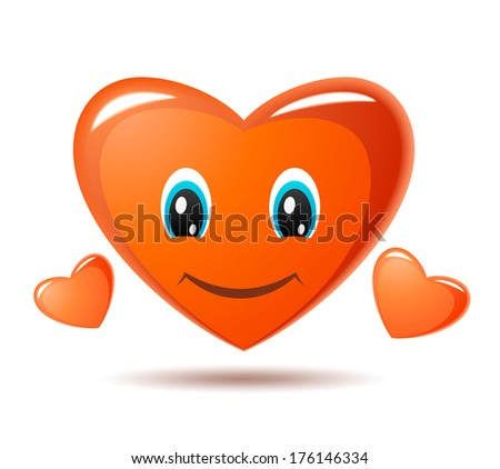 Smiling heart. Raster version of EPS image 76391944 #176146334