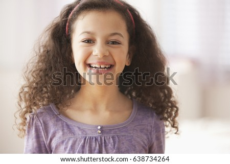 Stock Photo Smiling Hispanic girl