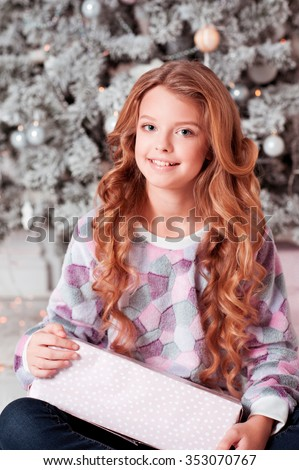 free photos a cute teenage girl of 12 years old smiling at the